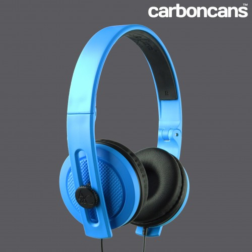 CARBONCANS HEADPHONES BLUE BLACK 45 LOGO WEB