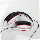 CARBONCANS HEADPHONES WHITE PINK FOLDED WEB