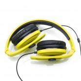 CARBONCANS HEADPHONES YELLOW BLACK FOLDED WEB