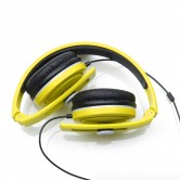 CARBONCANS HEADPHONES YELLOW GREY FOLDED WEB